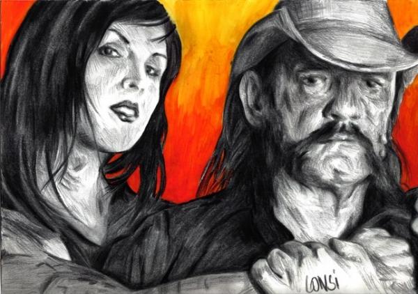 Kat Von D, Motörhead, Lemmy Kilmister par volverine